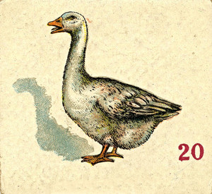 Art Prints of Game Piece, Goose, Vintage Game Pieces & Playing Cards