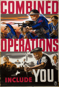 Art Prints of Combined Operations Include You, War & Propaganda Posters