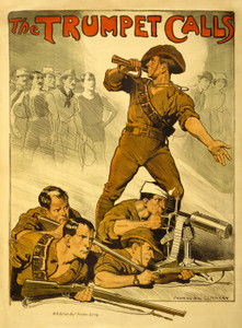 Art Prints of The Trumpet Calls, Poster from World War I