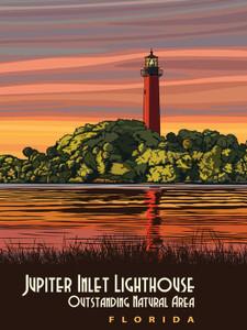 Art Prints of Jupiter Inlet Lighthouse, Travel Posters