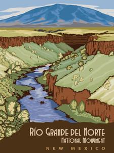 Art Prints of Rio Grande Del Norte, National Monument, Travel Posters