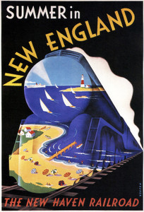 Art Prints of The New Haven Railroad, Summer, 1938, Travel Posters