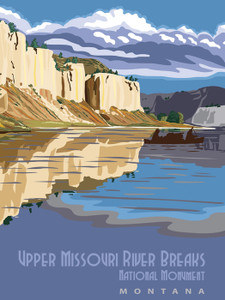 Art Prints of Upper Missouri River Breaks, National Monument, Travel Posters