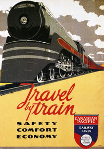 Art Prints of Travel by Train, Canadian Pacific Railway Lines, Travel Posters