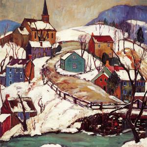 Art Prints of Village Hillside by Fern Coppedge