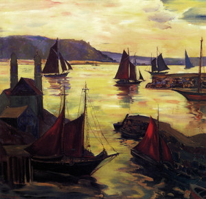 Art Prints of Red Sails in the Sunset by Fern Coppedge
