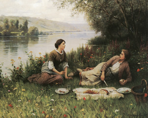 Art Prints of Normandy Garden by Daniel Ridgway Knight