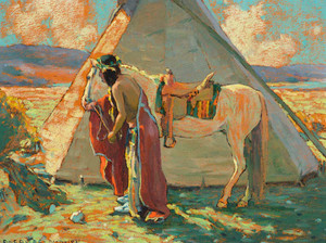 Art prints of Indian Camp or Sunlight by Eanger Irving Couse