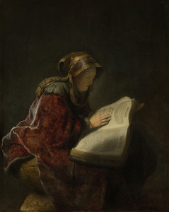 Old Lady Reading by Rembrandt van Rijn | Fine Art Print