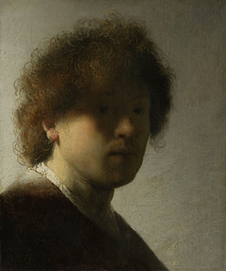 Self Portrait as a Young Man by Rembrandt van Rijn | Fine Art Print