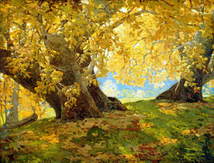 Art prints of Sycamore in Autumn, Orange County Park by Edgar Payne