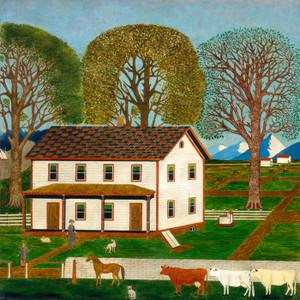 Art Prints of Farmhouse in Mahantango Valley by 19th Century American Artist