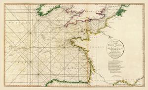 Art Prints of British Channel (2104011) by Delarochette and William Faden