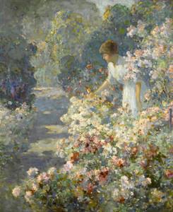 Art Prints of Morning in the Garden by Abbott Fuller Graves