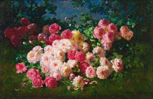Pink and Red Roses by Abbott Fuller Graves | Fine Art Print