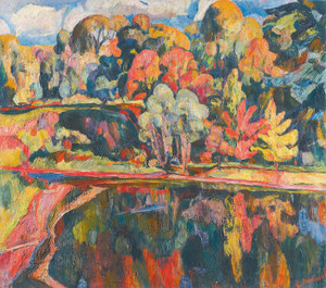Art Prints of Autumn Landscape by Abraham Manievich