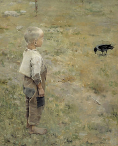Art Prints of Boy with a Crow Print by Akseli Gallen-Kallela