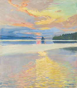 Art Prints of Sunset Over Lake Ruovesi by Akseli Gallen-Kallela
