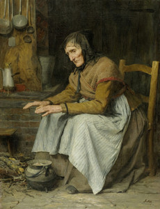 Art Prints of Old Age, 1885 by Albert Anker