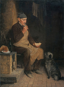 Art Prints of Old Man Taking a Rest by Albert Anker
