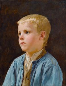 Art Prints of Portrait of a Blue Eyed Boy by Albert Anker