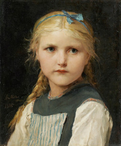 Art Prints of Portrait of a Girl, 1885 by Albert Anker