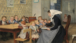 Art Prints of The Kindergarten by Albert Anker