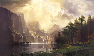 Art Prints of Among the Sierra Nevada Mountains by Albert Bierstadt
