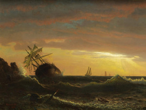 Beached Ship by Albert Bierstadt | Fine Art Print