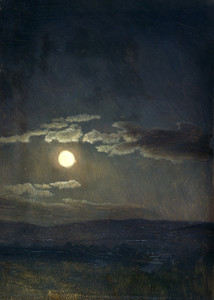 Art Prints of Cloud Study, Moonlight by Albert Bierstadt