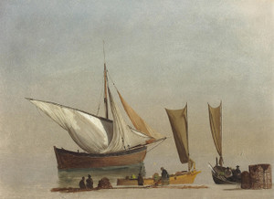 Art Prints of Fishing Boats by Albert Bierstadt