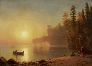 Art Prints of Indian Canoe by Albert Bierstadt