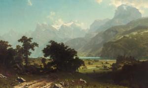 Art Prints of Lake Lucerne by Albert Bierstadt