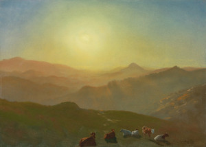 Art Prints of Looking from the Shade on Clay Hill, San Francisco by Albert Bierstadt