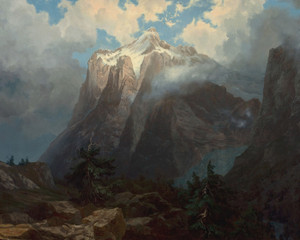 Art Prints of Mount Brewer from Kings River Canyon by Albert Bierstadt