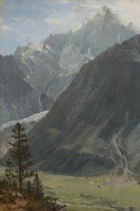 Art Prints of Mountain Landscape by Albert Bierstadt