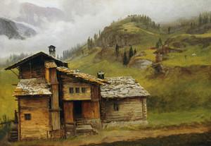 Art Prints of Mountain House by Albert Bierstadt
