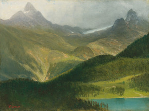 Art Prints of Mountain Landscape II by Albert Bierstadt
