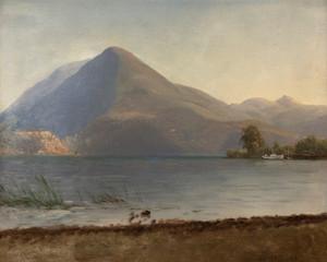 Art Prints of On the Hudson by Albert Bierstadt