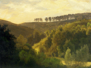 Art Prints of Sunrise over Forest and Groves by Albert Bierstadt