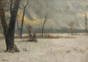 Art Prints of Winter Landscape by Albert Bierstadt