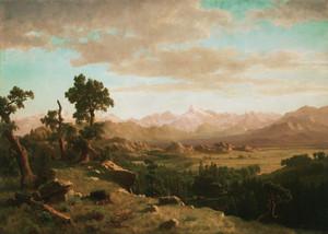 Art Prints of Wind River Country by Albert Bierstadt