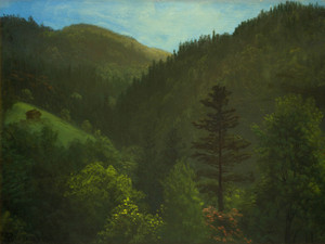 Art Prints of Wooded Landscape by Albert Bierstadt