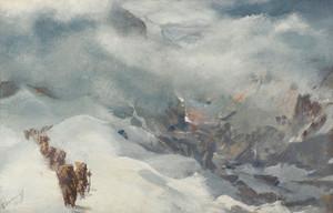 Art Prints of Burzil Pass by Alexander Evgenievich Yakovlev