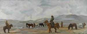 Art Prints of Mongolian Horsemen by Alexander Evgenievich Yakovlev