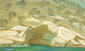 Art Prints of Landscape with Olive Trees by Alexander Evgenievich Yakovlev