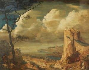 Art Prints of Mythological Landscape II by Alexander Evgenievich Yakovlev