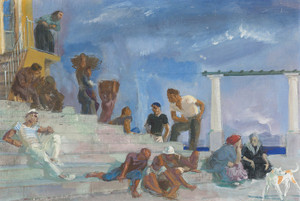 Art Prints of Staircase in Capri, Number III by Alexander Evgenievich Yakovlev