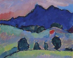 Art Prints of Blue Mountain by Alexej Von Jawlensky