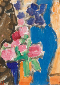 Art Prints of Flower Still Life with Vase and Figure by Alexej Von Jawlensky